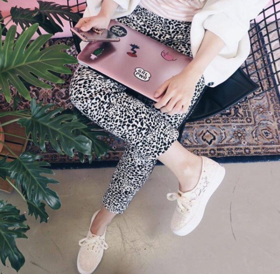 amator pantalon zwart/wit