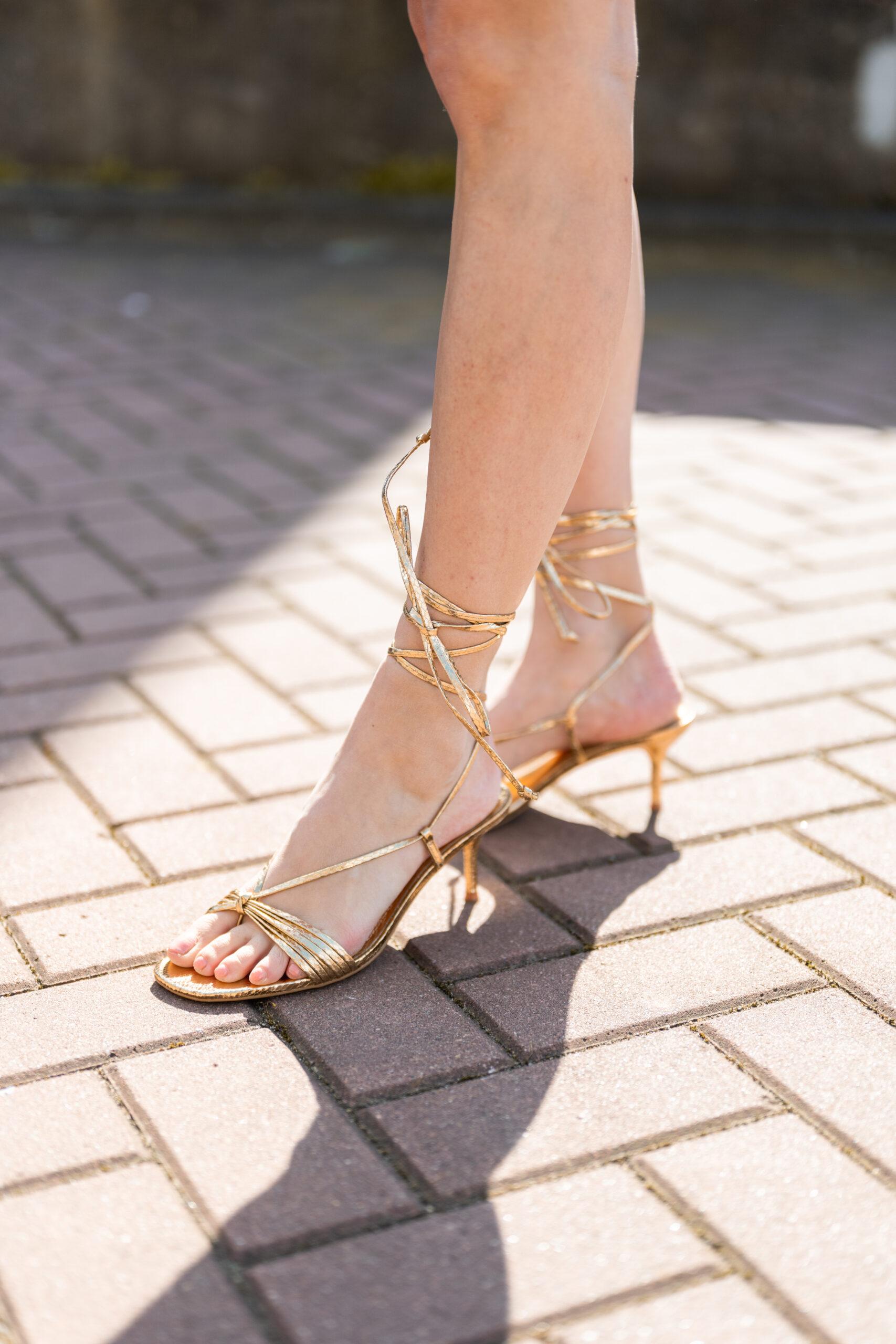 Zara gouden hakjes